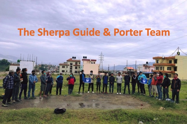 Sherpa, Guide and Porter Team for the Virtual Everest Climb.
