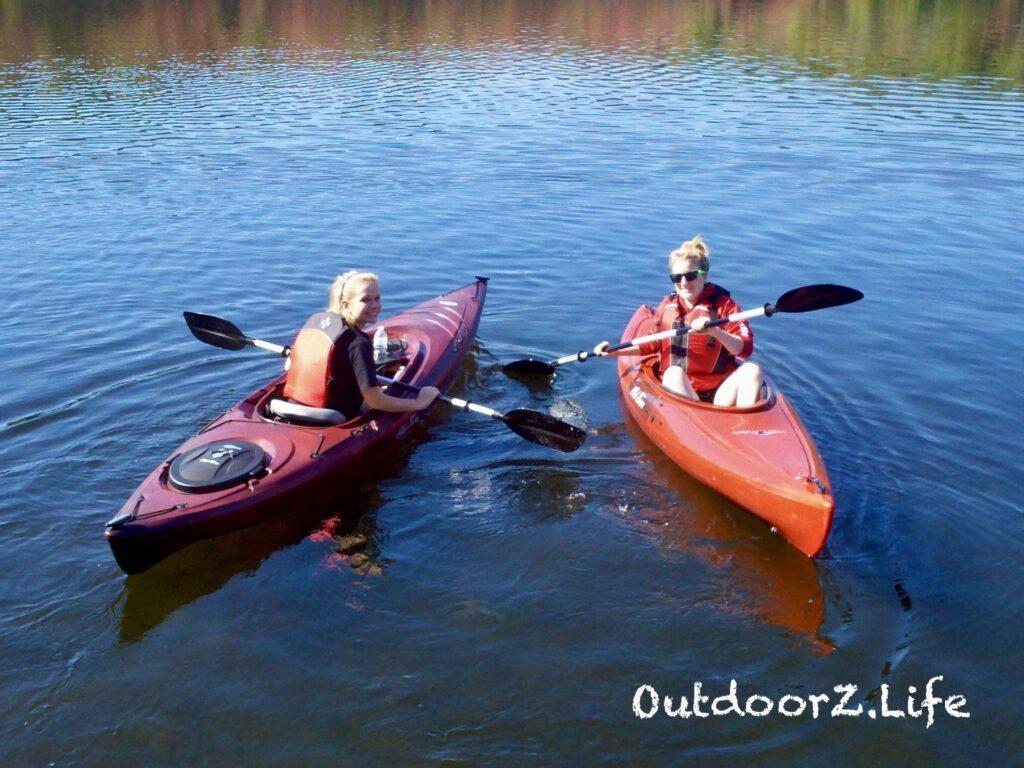 Kayaking in warm weather