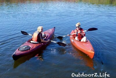 Kayaking in warm weather