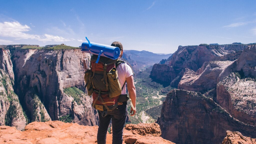 Picture of a man backpacking