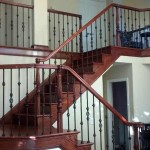 San Jose stair and handrail, Brazilian cherry with iron balusters - 6
