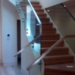San Francisco stair, quartersawn white oak with glass and stainless steel - 9