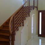 Fremont stair and handrail, maple with stainless steel balusters - 8