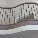 San Jose stair and handrail, Brazilian cherry with iron balusters - 18