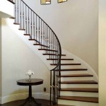 Menlo Park stair with walnut treads and painted risers - 1