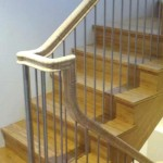 Palo Alto stair and handrail, bamboo with stainless steel posts and balusters - 12
