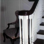 Atherton handrail, mahogany with painted posts and balusters - 25