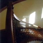 Atherton handrail maple with iron balusters - 4