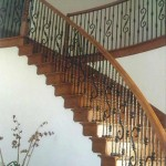 Atherton staircase maple with iron balusters - 3