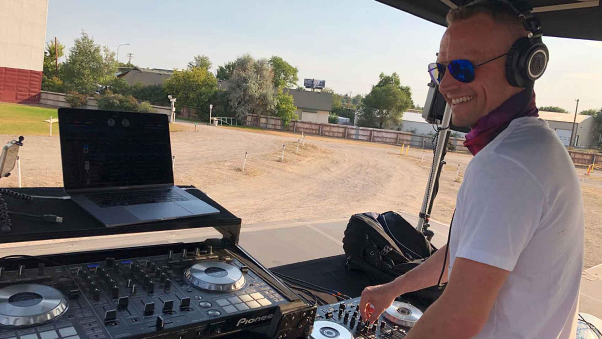 The Idahoan DJing a live gig in Idaho Falls