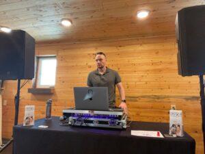 The Idahoan's Wedding DJ Setup At The Blackfoot Bridal Fair