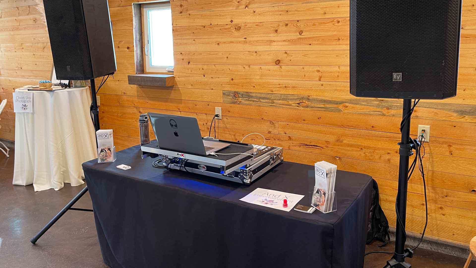 The Idahoan's Wedding DJ Setup