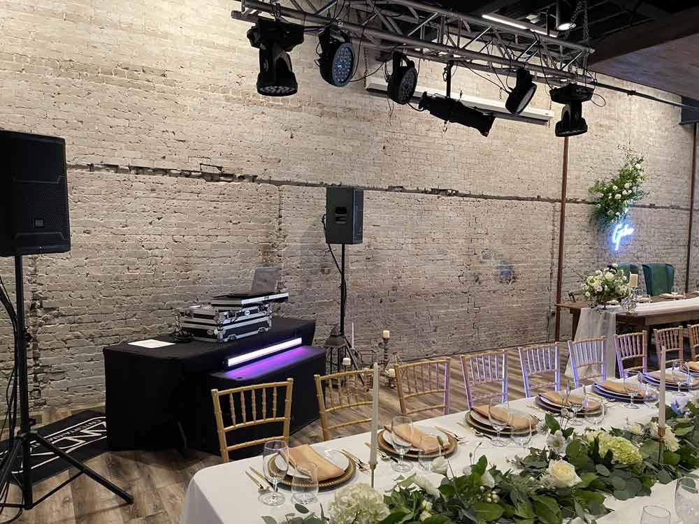 The Idahoan's Giles Wedding DJ Gig Setup