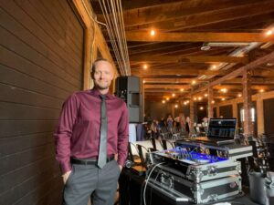 The Idahoan, wedding DJ, at the Morgan wedding in Rigby, ID