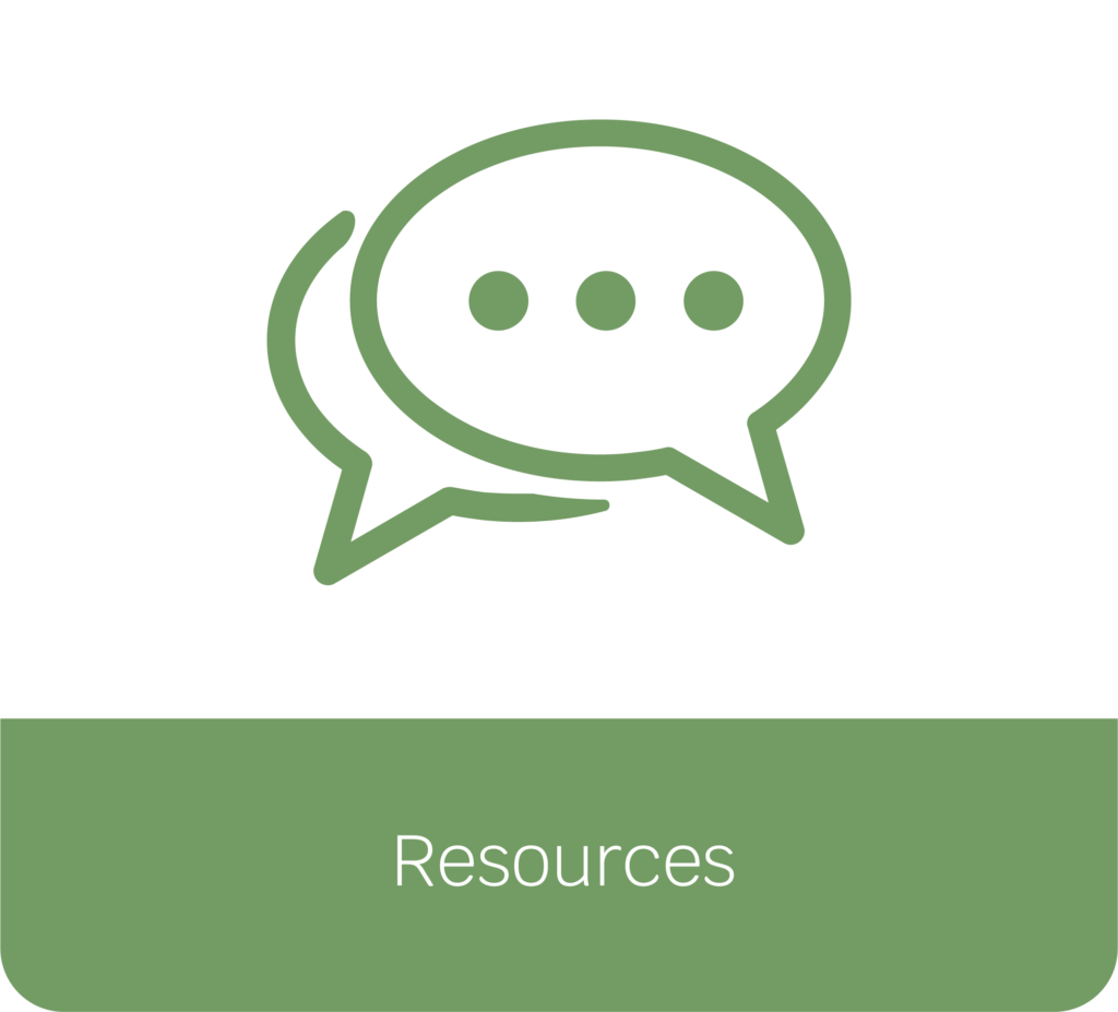 Resources button selection