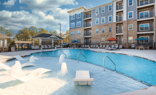 Apartment outdoor pool