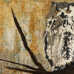 Montana Great Horned Owl (32 x 48 in) | SOLD