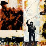 Bandera Cowboy Quilt   30 x 60 in   SOLD