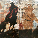 Let's Rodeo   20 x 40 in   SOLD