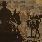 Counting Cows   24 x 48 in   SOLD