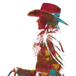 Western Wind | 30 x 30 in | Available - Cowgirl Up! Desert Caballeros Western Museum