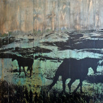 Pony Road | 30 x 31 in | Available - Mountain Trails Gallery, Jackson Hole