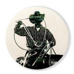 Rrrroping   36 in round   Available - Sorrel Sky Gallery, Santa Fe NM