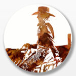 Oh My Darlin' Clementine | 24 in circle | Available - Sorrel Sky Gallery, Santa Fe NM
