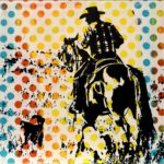 Western Pop | Ranching | 6 x 6 in | Available - Sorrel Sky Gallery, Santa Fe NM