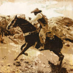 When the West Was Wild IV   12 x 12 in framed   Available - Gallery Mar, Park City UT