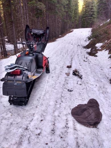 Eslick Snowmobile on Road