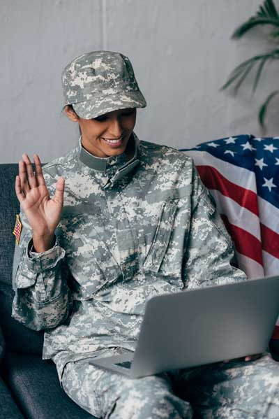 Your project will be matched and completed by qualified military service verified veterans, retirees, active duty or military spouses. Veterans profiles and reviews are available to help you decide. Our search feature will locate people within a certain radius (miles), skills match, or by keywords within description of profile, cost, reviews, etc. You can quickly and easily communicate online or via our app.