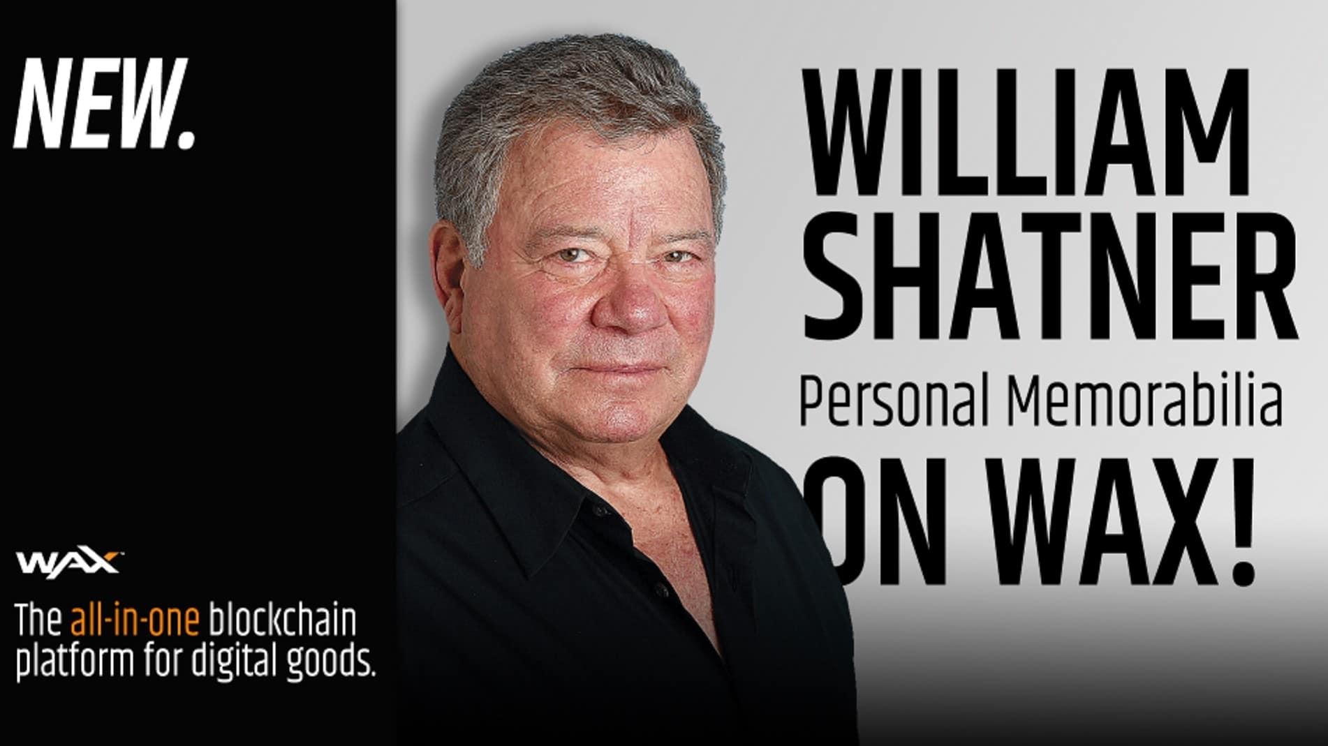 William Shatner NFTs on Wax