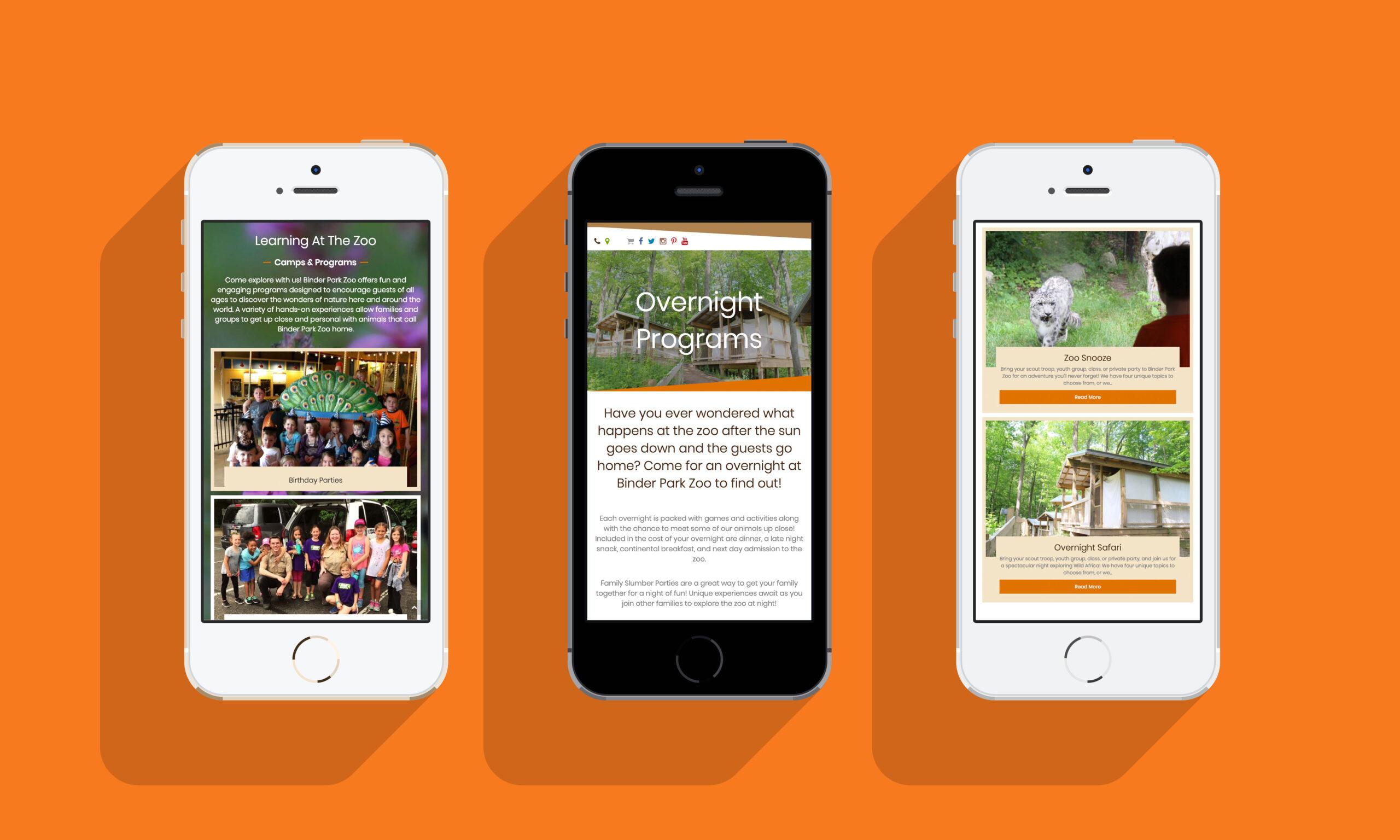 Binder Park Zoo_phone_Iver Design