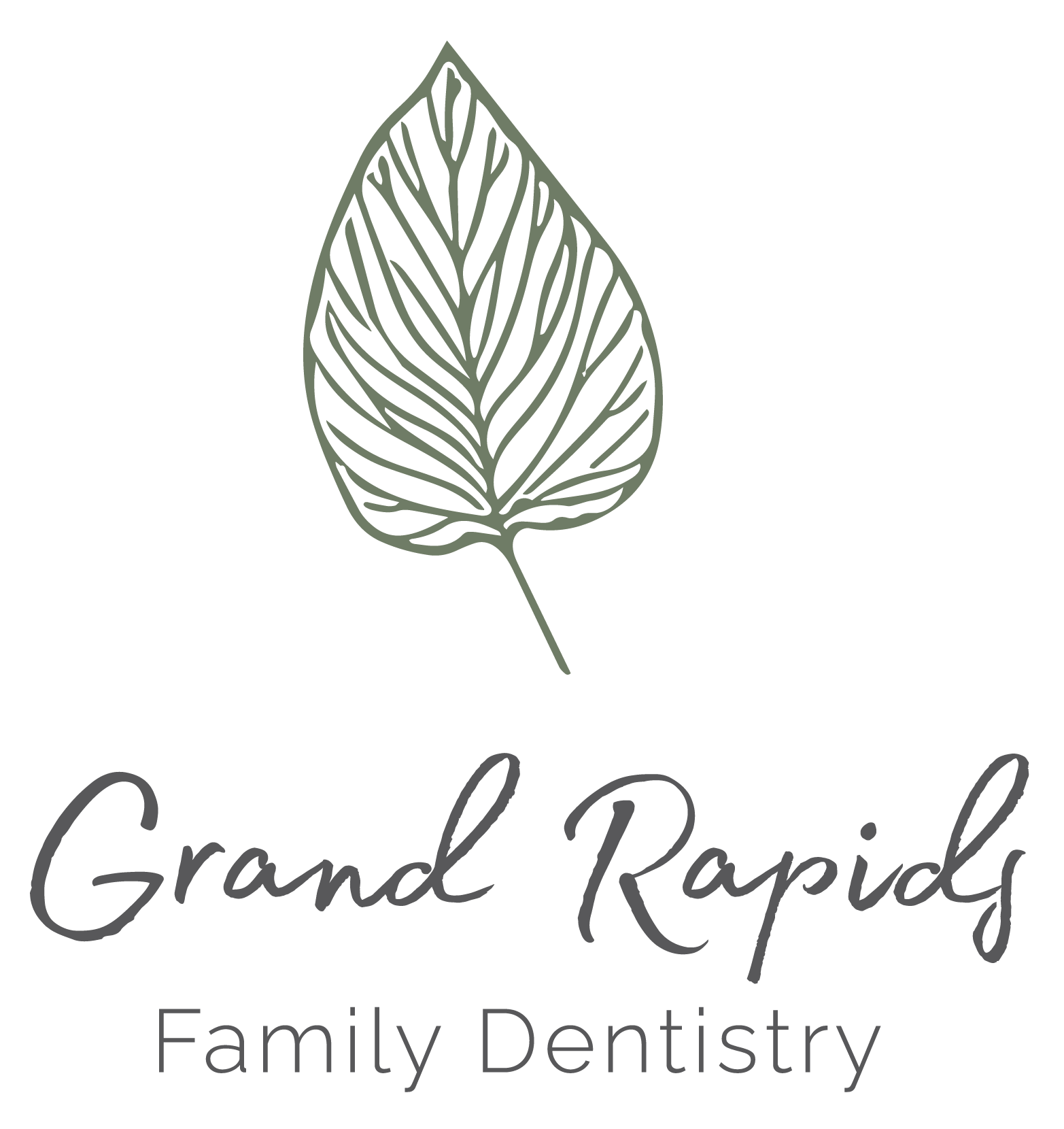 Grand Rapids Family Dentistry_Stacked Logo-Green - Charcoal