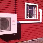 Outdoor heat pump installatino