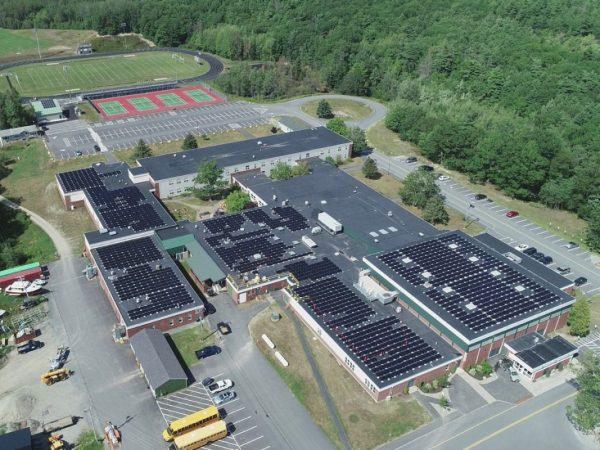 solar panels school bar harbor Maine