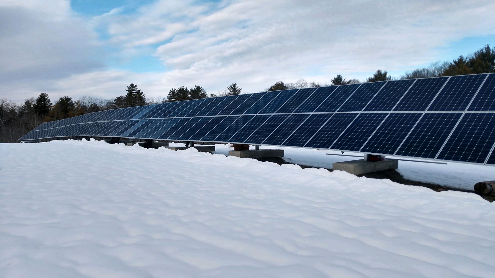 Maine solar panels landfill