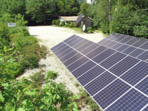 WERU solar panels Maine