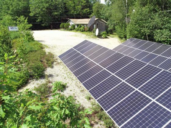 WERU solar panels Maine