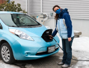 solar panels and EVs