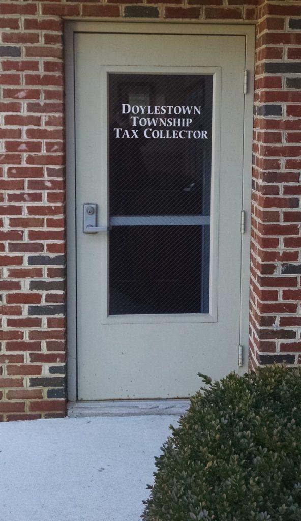Tax Collector Office Front Door