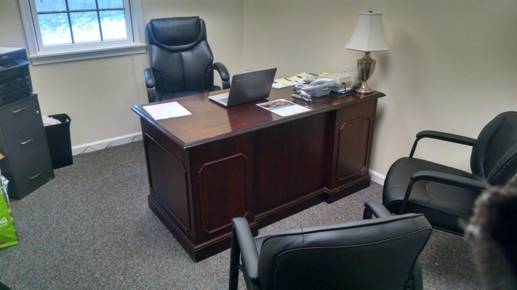 The private office also accepts credit cards!