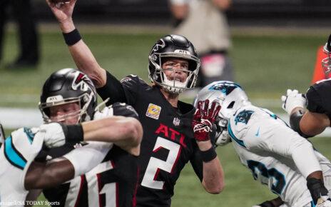 Matt Ryan Atlanta Falcons vs Carolina Panthers
