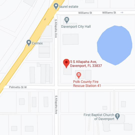 Map To Davenport Historical Society