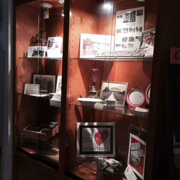 Davenport Historical Society history display at TWF reception