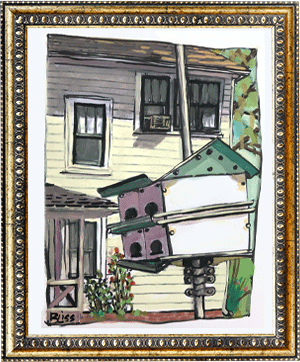 Historic Lemon St. 1 art by Bonnie Liss