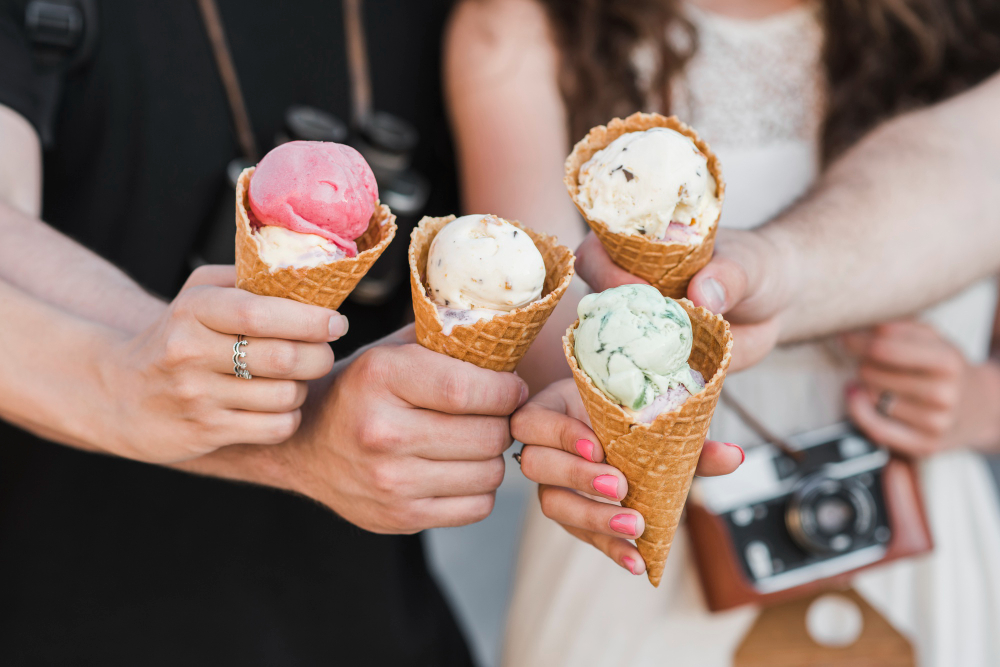 hands-holding-ice-cream-cones