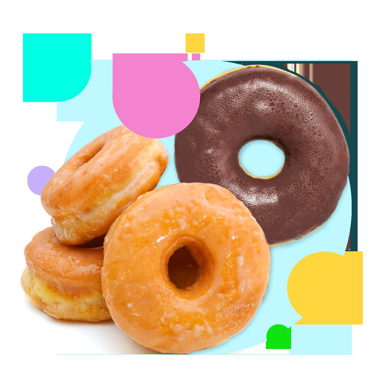 Glazed and chocolate donut