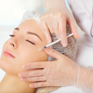 Botox injection of a woman at Dripping Springs medspa